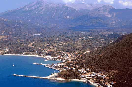 The tourist resort of Vasiliki -