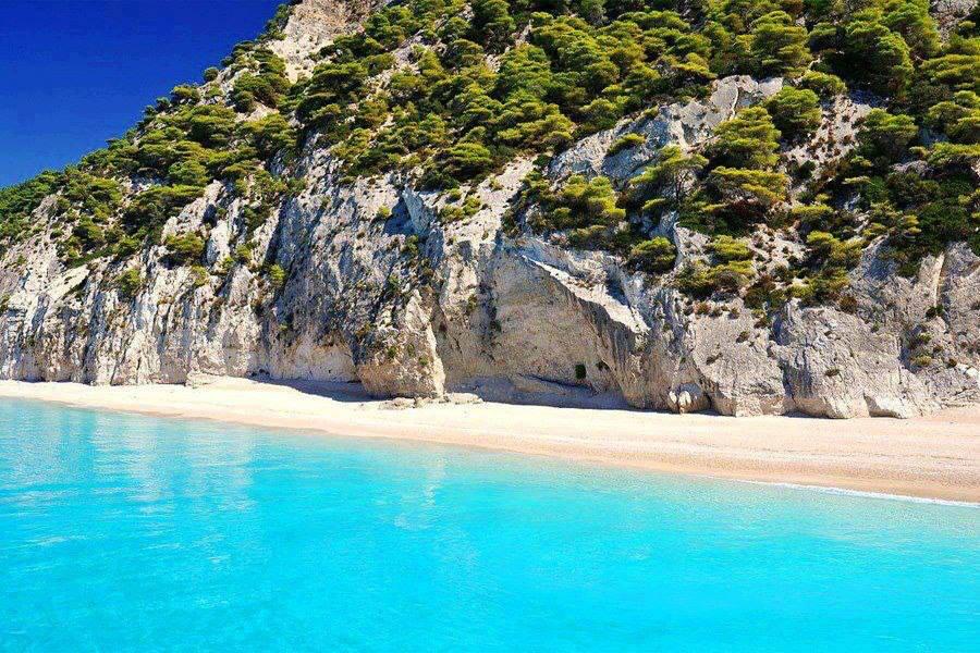 Pefkoulia beach, Lefkada -