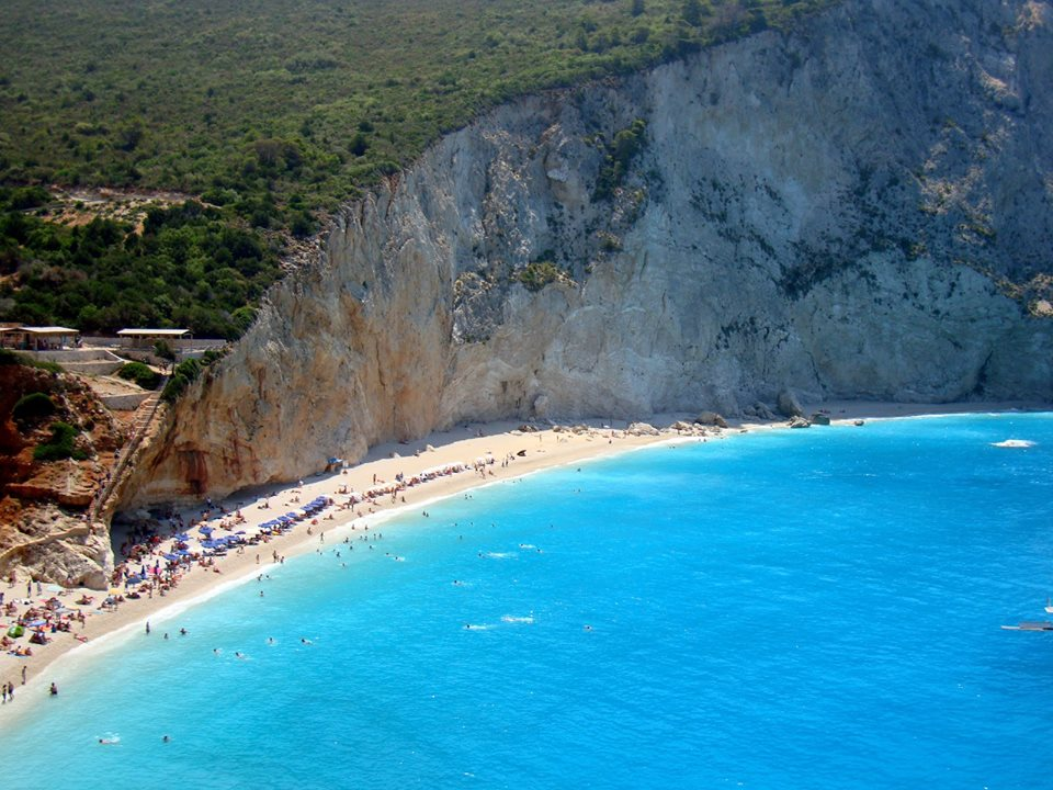 Porto Katsiki view - View of the beach from above on a beautiful sunny day